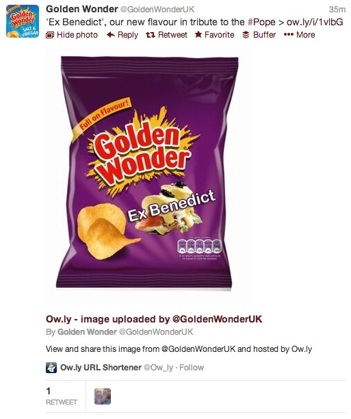 Golden Wonder - Ex Bendict Flavour Crisps