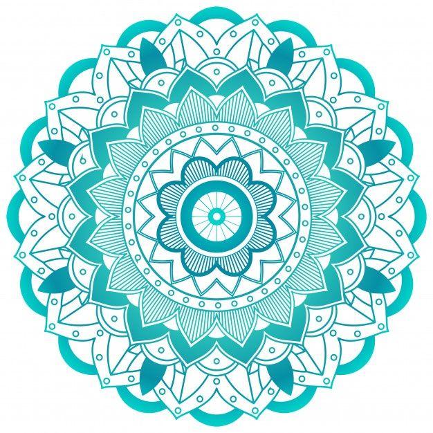 Lade Grune Blume Mandala Design Kostenlos Herunter Sacred Geometry Art Flower Mandala Mandala Background