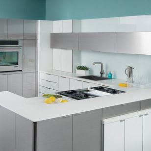 """Dura Supreme Cabinetry - Howard Lake, MN, US 55349 (""""stainless steel kitchen of the future"""")"""
