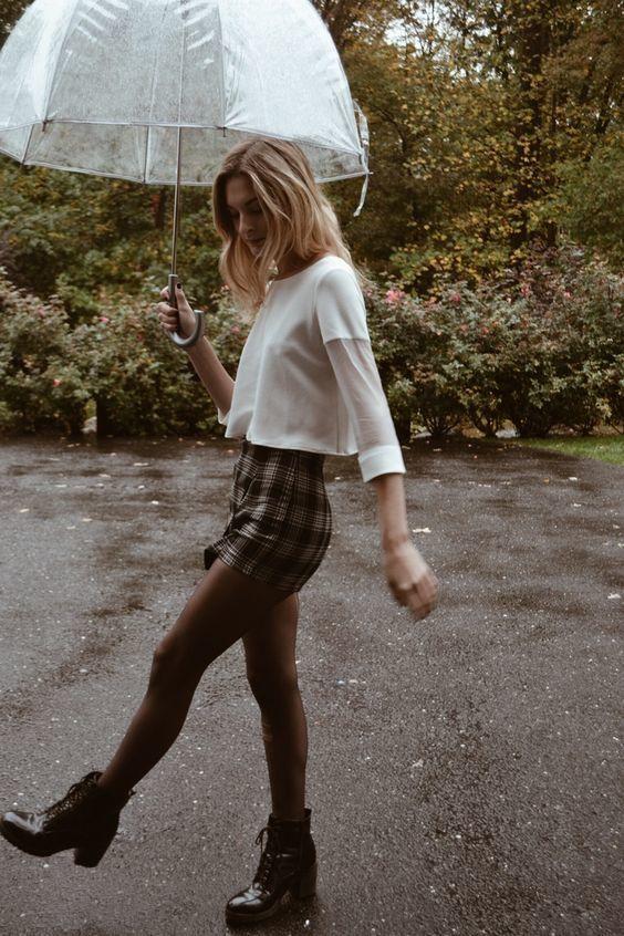 Outfits súper cute para los días lluviosos