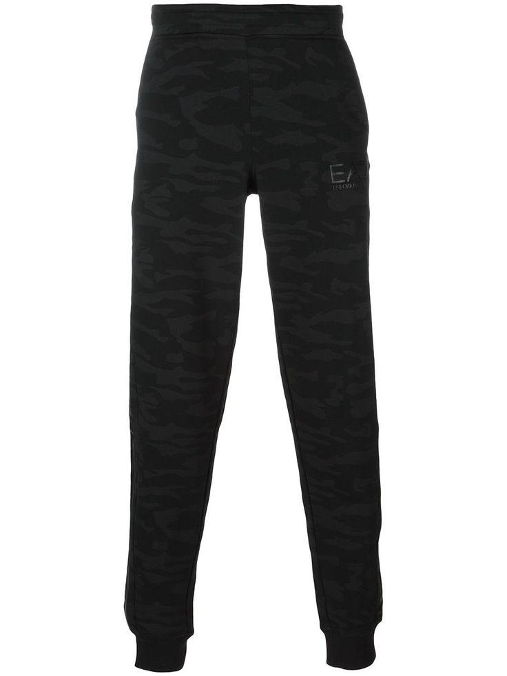 Ea7 Emporio Armani pantalon de jogging à motif camouflage