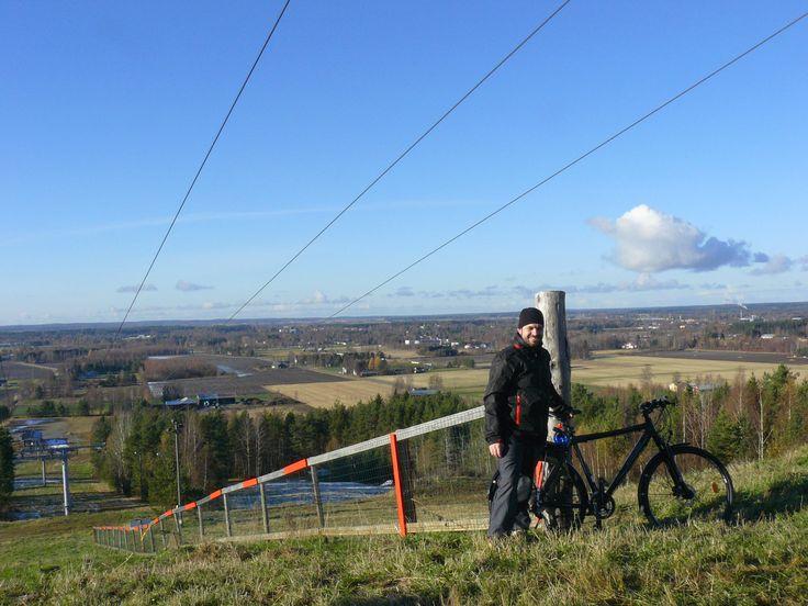 Climbing to the snow tracks of Kauhajoki