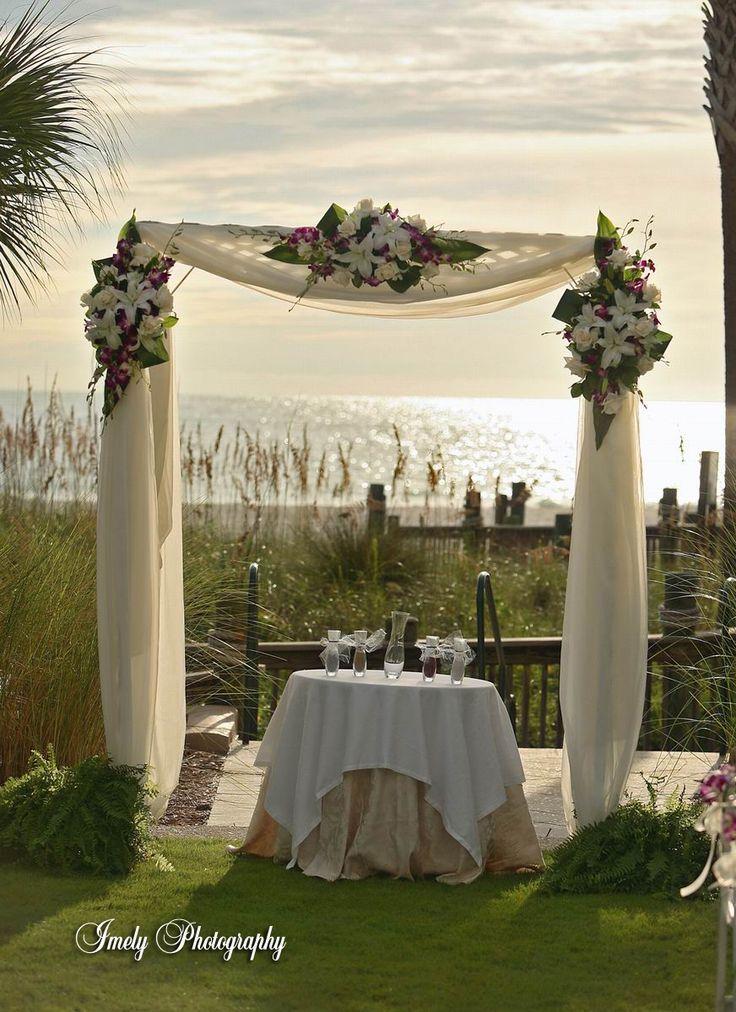 Diy decorate wedding arch-6491