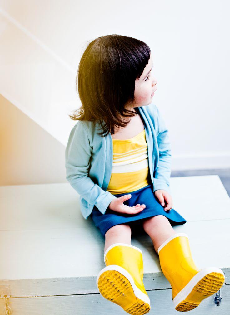 Cardigan Jade - Top Stripes Yellow - Skirt Aque - mundo melocotón