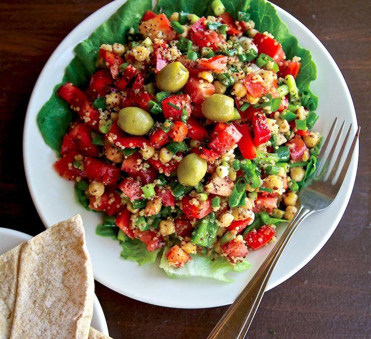 Taiim Falafel Shack's Quinoa Salad Recipe | Food Republic.  http://www.foodrepublic.com/2014/07/07/taiim-falafel-shacks-quinoa-salad-recipe