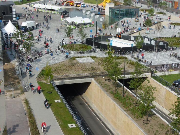 Het nieuwe plein in Emmen