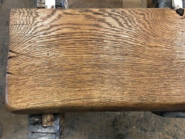 Waschtisch Eiche Regal Brett Altholz Stil Antik Geolt Massivholz Einseitige Baumkante 120x50x4 5cm In 2020 Altholz Holz Eiche