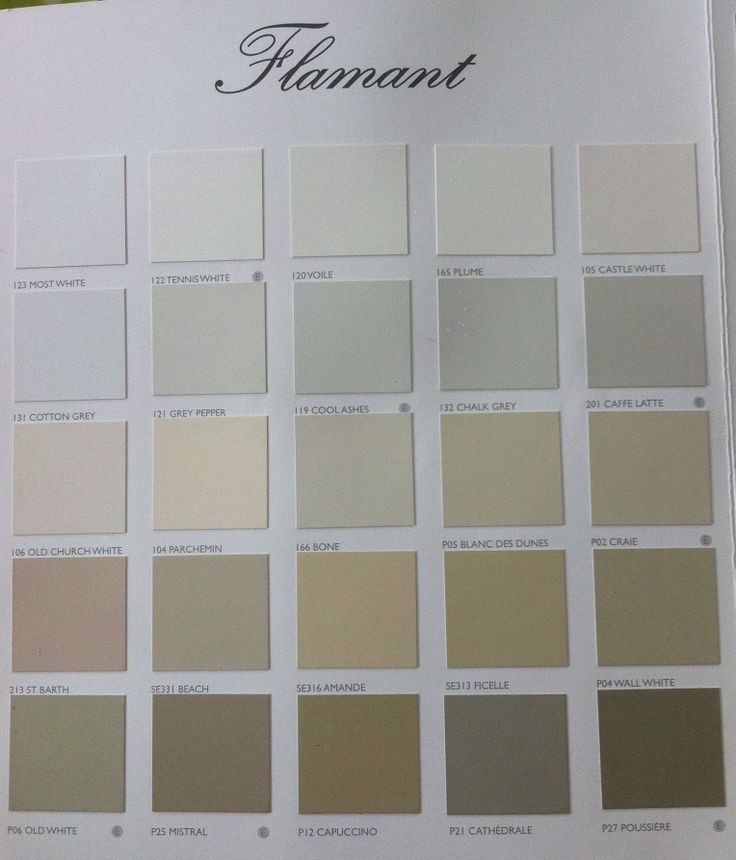 Nuancier flamant colors pinterest - Nuancier de blanc ...