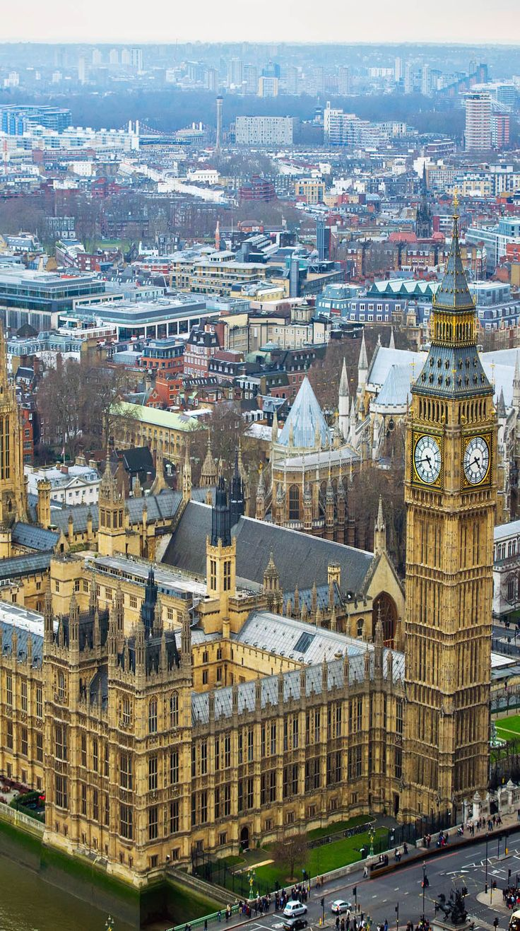 Palace of Westminster - Houses of Parliament and Big Ben clock tower ~ London, England