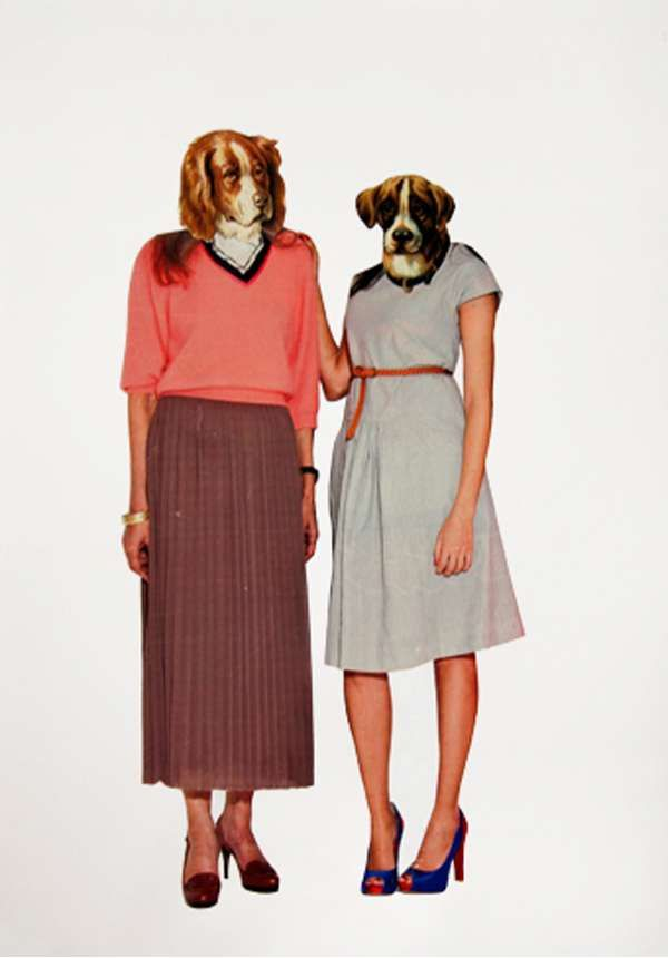 Animal+Head+Fashion+Collages+-+The+Larissa+Haily+Aguado+Mixed+Media+Pieces+are+Comical+(GALLERY)
