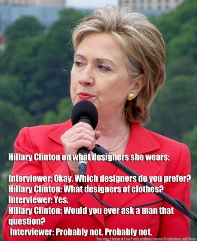 Hillary Clinton....  great answer