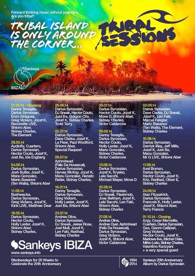 Tribal Session Every Wednesdy @Sheila Sankey Ibiza, Ibiza, ES