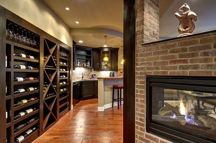 Rec Room With Wine Cellar 69581am: Best 25+ Basement Fireplace Ideas On Pinterest