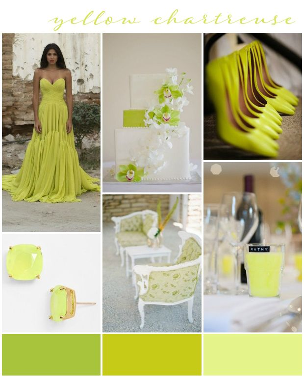Chartreuse Wedding Inspiration & Ideas
