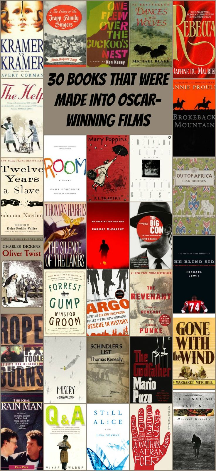 From Book To Blockbuster, These 30 Memoirs And Novels Were Turned Into Huge  Award