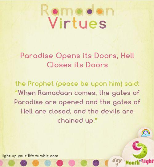 light-up-your-life:  Month Of Light  Ramadan Virtues Virtue (2)