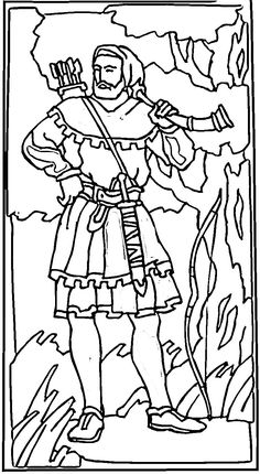 robin hood in a sherwood forest coloring page