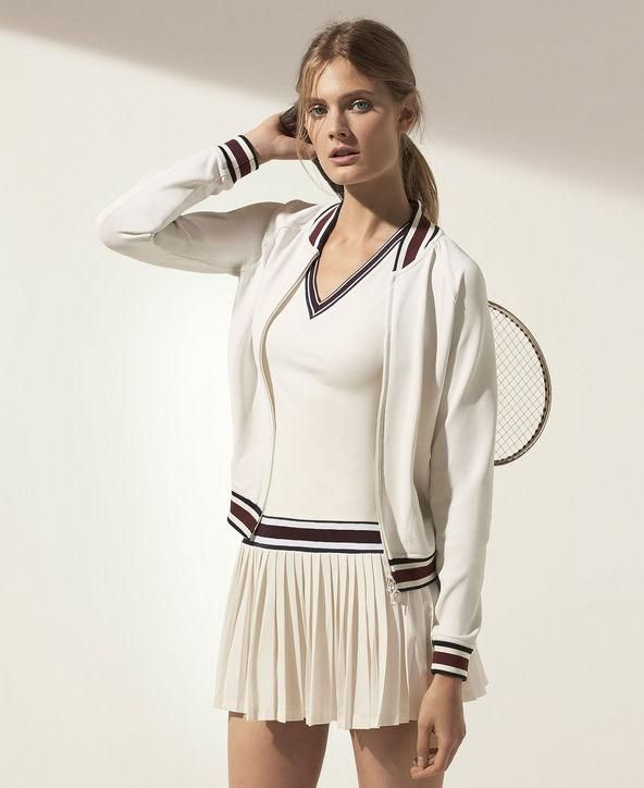 Tory Burch makes amazing new workout clothing, including this pleated tennis dress - click for more pics