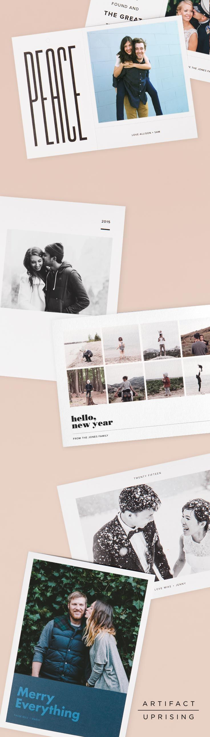 Holiday cards so good, even your neighbor will want one. The 2015 holiday photo card collection from @artifactuprsng offers exceptional holiday designs that can be customized with your favorite photo and personalized greeting. Create your cards in our online editor or straight from your iPhone, and have them delivered to your door in no time. Each holiday card is printed on 100% recycled paper and includes a kraft envelope.: