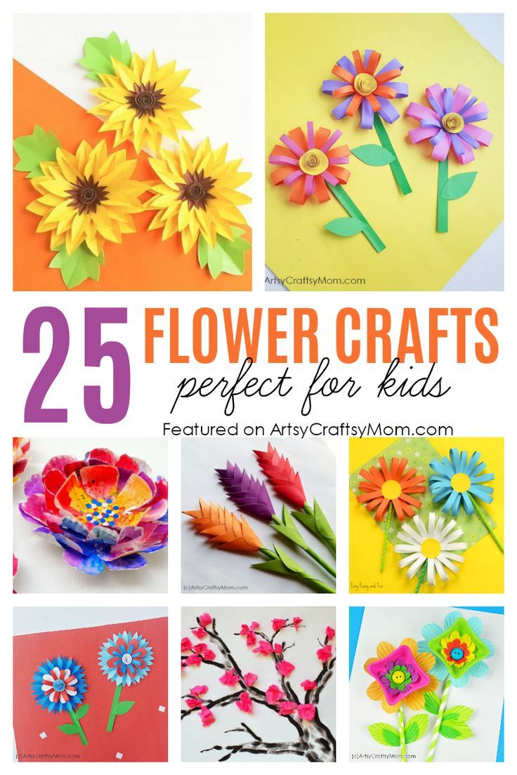 25 Gorgeous Paper Flower Crafts for Kids that are perfect for Summer- from tissue paper cherry blossoms, lilies, sunflowers to heliconias too - there's a lot to choose from! via @artsycraftsymom #papaerflower #papercraft #artsycraftsymom