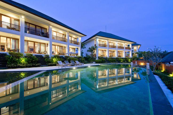 Bali Indonesia Dusk Luxury resort, Sahaja Sawah