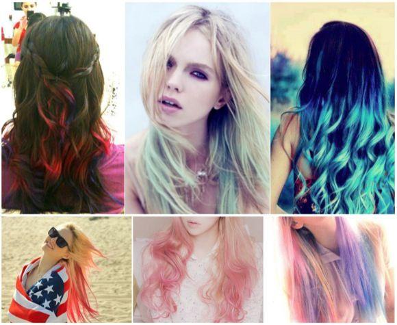 raiz negra y puntas de colores - Buscar con Google   Hair ...