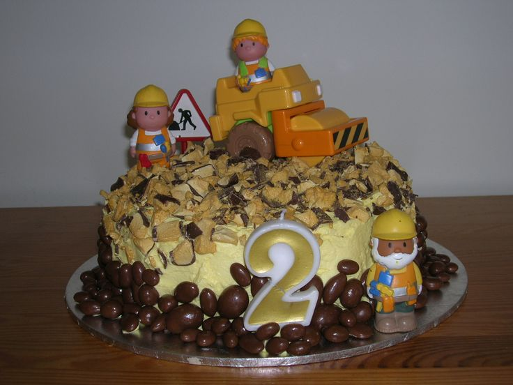 Building site cake for 2nd Birthday