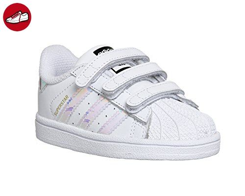 adidas Unisex Baby Superstar CF Lauflernschuhe, Wei� (Ftwr White/Ftwr  White/Metallic