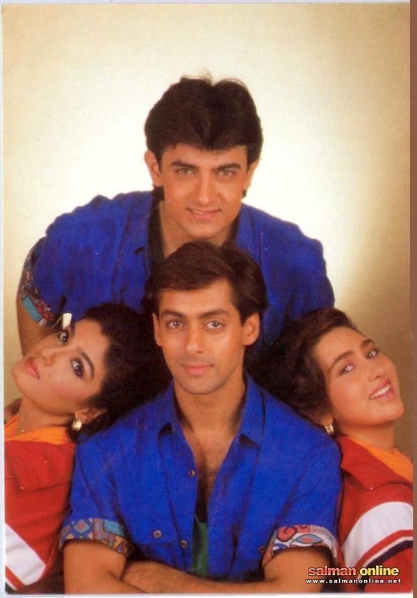 Amir khan, twinkle khanna, salman khan, & Karisma kapoor.