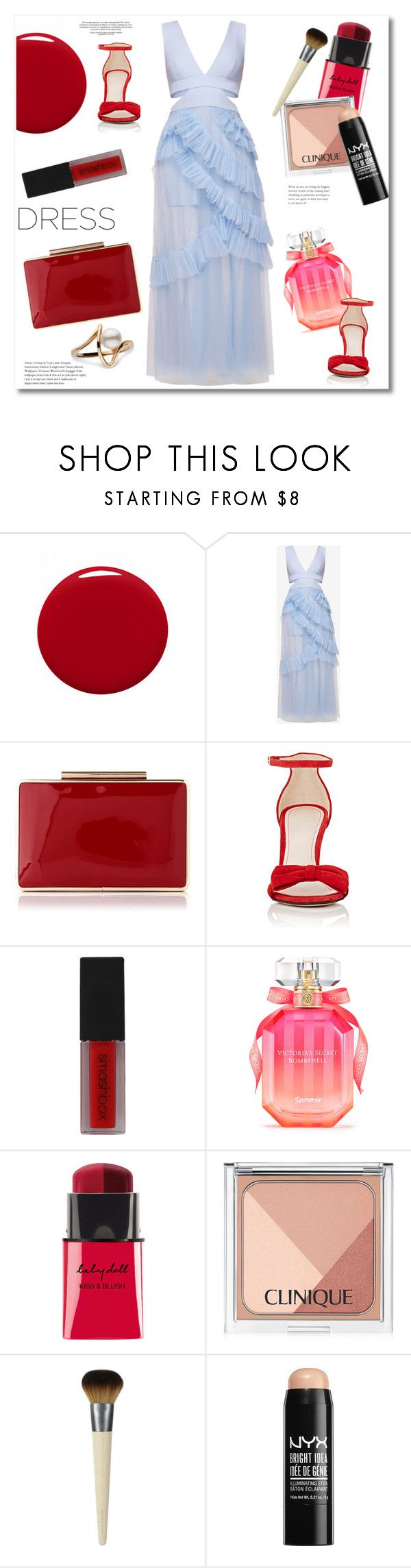 """""""Get the look"""" by vkmd ❤ liked on Polyvore featuring Givenchy, BCBGMAXAZRIA, L.K.Bennett, Barneys New York, Smashbox, Victoria's Secret, Clinique, NYX and dreamydresses"""