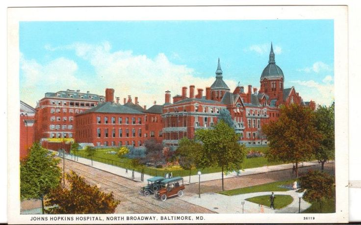 Undated Unused Postcard John Hopkins Hospital North Broadway Baltimore MD