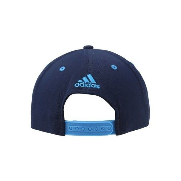 adidas UCLA Bruins March Madness Snapback Hat Navy ❤ liked on Polyvore featuring accessories, hats, adidas snapback, navy hat, flat hat, adidas and navy snapback