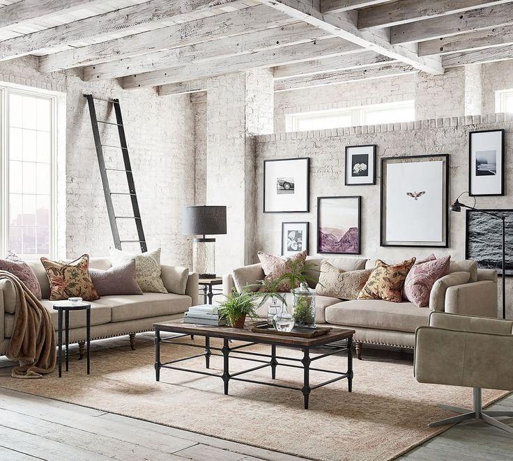 Tallulah Upholstered Sofa in 2021   Pottery barn living room, Barn living, Barn decor