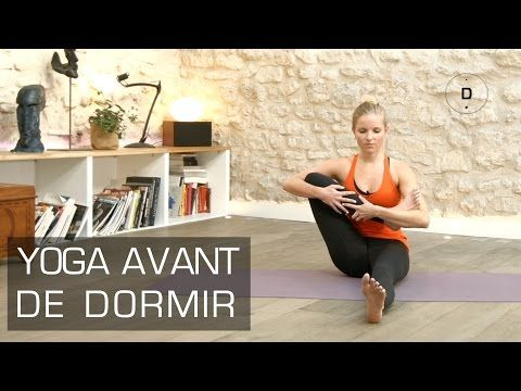 Exercices de yoga avant de dormir.