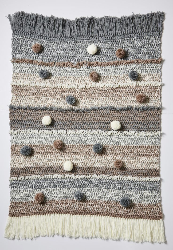 One word comes to mind with this colour scheme: cosy!  Our latest season knit or crochet kits come in two colourways, 'Neutral Mist' and 'Boho Chic' and are either wool or acrylic.
