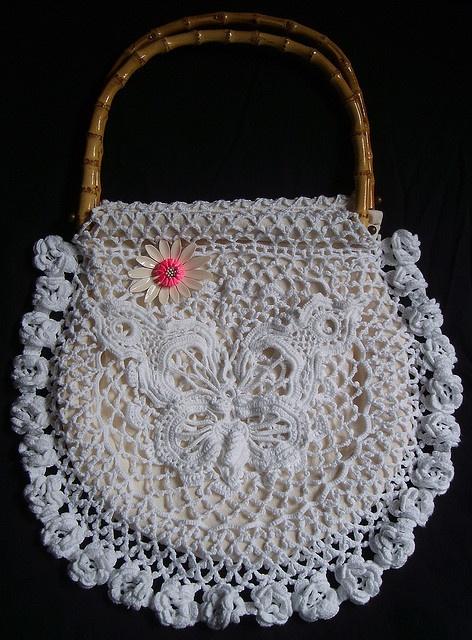 Free Irish Crochet Bag Pattern : 320 best images about Crochet -- Irish Lace on Pinterest ...