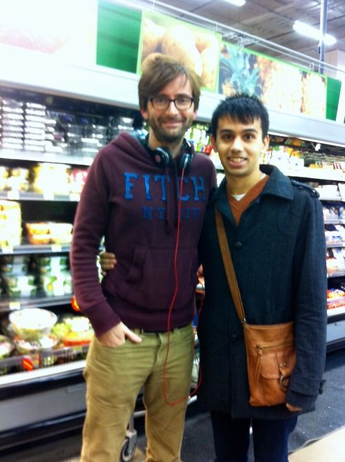 """I was in Walmart and I saw a guy who looked like the Tenth Doctor. So I stalked him through Produce, got close to him and nervously asked, 'Mr. Tennant?'"" david tennant will take photos with fans in walmart"