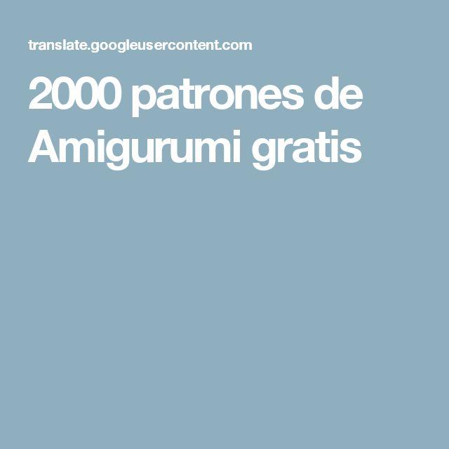 2000 patrones de Amigurumi gratis