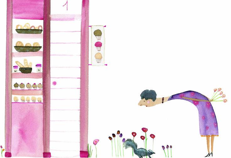 """Ilustración de Paula Alenda para el cuento de Catalina González """"¡Qué raro!"""" La editorial Edelvives publica este cuento dentro de la colección Lee y Escucha para primeros lectores."""