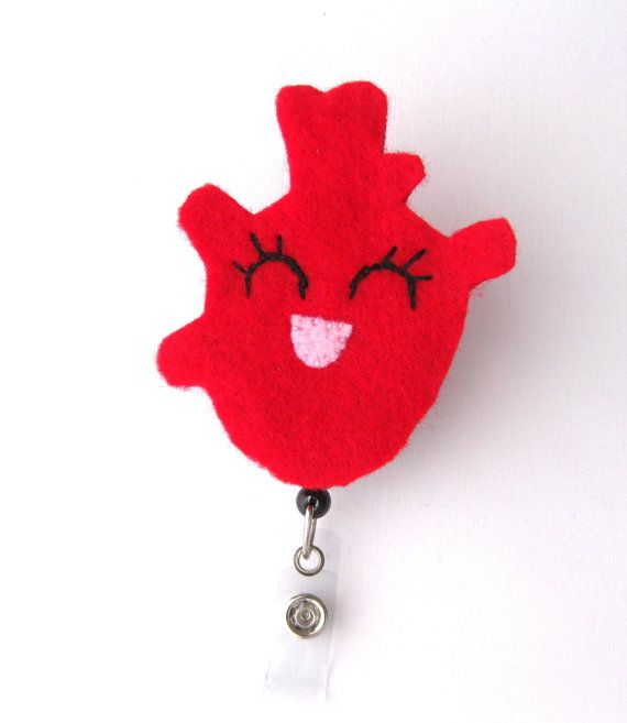 Haley Heart Cardiac Nurse Badge Pull Cute Badge by BadgeBlooms