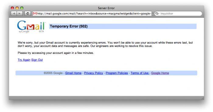 Gmail non funziona: caos in rete, Google si scusa e anche Yahoo