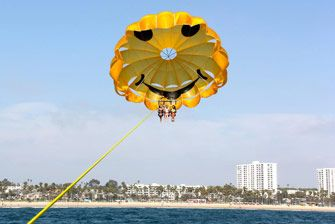 Do you believe you can fly? You can now. Parasail over the Santa Monica Bay for panoramic views of Malibu, Venice Beach, and more. | Marina Del Rey Parasailing- Marina Del Rey, CA