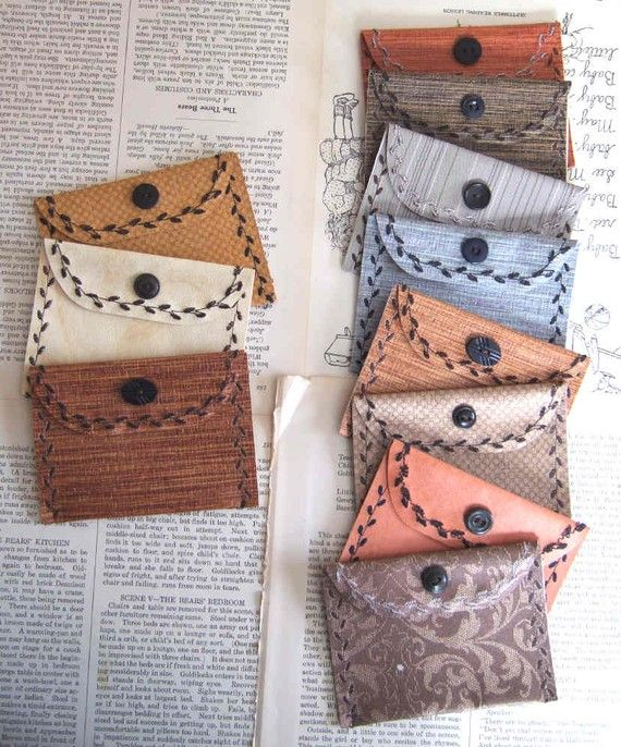 little wallets made from wallpaper samples available in my etsy shop