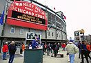 Wrigley Field! Go Cubs go! Go Cubs go! Hey Chicago what do you say? The Cubs are gonna win today!
