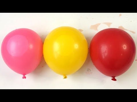 Learn Colors With Balloons Funny For Kids Children Wet Balloons Dance Ba...