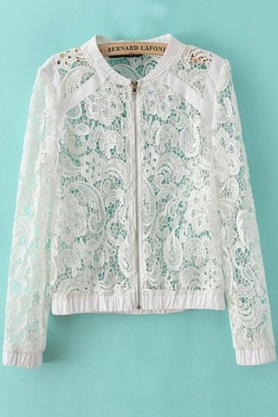 Crocheted Lace Jacket
