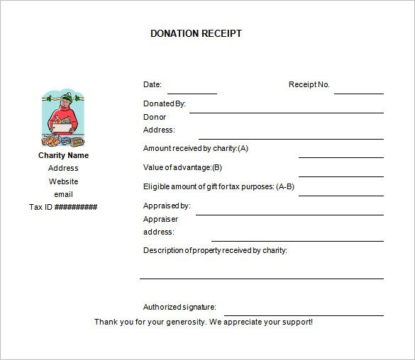 Donation Receipt Templates 17 Free Printable Word Excel Pdf Samples Receipt Template Invoice Template Word Donation Form