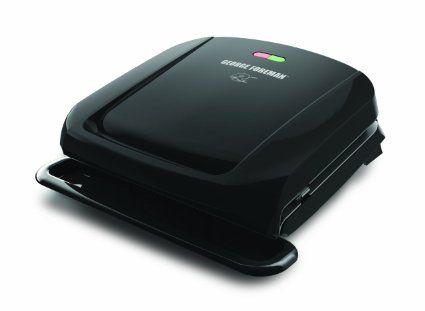 George Foreman ジョージフォアマン GRP1060B 4 Serving Removable Plate Grill, Black グリル…