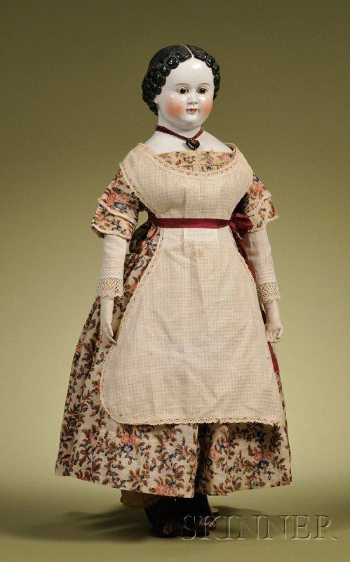 Early China Doll with Glass Eyes, Germany, c. 1850,