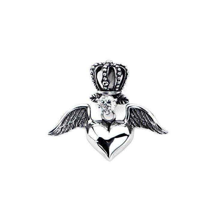 Inox 316L Stainless Steel CZ Accent with Winged Royal Heart Pendant  sc 1 st  Pinterest & Best 25+ Inox 316l ideas on Pinterest | Fogão a lenha portátil ... azcodes.com
